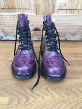 Para mujer Botas de leopardo morado Festival Rave Informal Botas de agua UK 6 EU 39