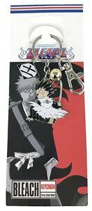 *Legit* Bleach Anime Metal Keychain 11th Captain Kenpachi Zaraki with Ring #4677