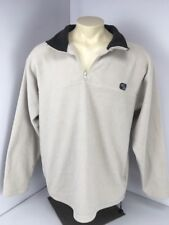Vtg 90s Counter Culture 1/4 Zip Pullover Fleece Jacket Taupe Sz XL Skate Surf