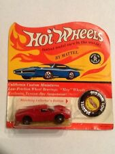 1967 Vintage Original Redline Hot Wheels Enamel Red Ford MK IV, ON CARD Error?