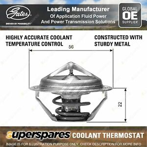 Gates Coolant Thermostat + Gaskets & Seals for Subaru Forester S12SH Outback