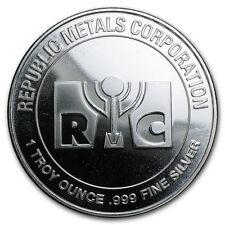 Médaille Argent 999/1000 1 once Republic Metals Corporation - 1 Oz silver RMC