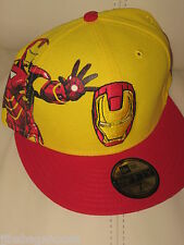 IRON MAN New ERA 59FIFTY size 7 movie THE AVENGERS Comic Book MEN'S HAT Cap