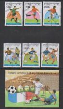 Cambodia - 1997, World Cup Football set & sheet - CTO - SG 1613/18, MS1619