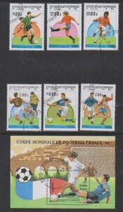 Cambodia - 1997, World Cup Football set & sheet - CTO - SG 1613/18, MS1619 (a)