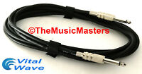 """12ft 1/4"""" Instrument Guitar Bass Amp Keyboard Audio Patch Cable Cord Wire VWLTW"""