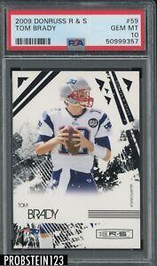 2009 Donruss R & S #59 Tom Brady New England Patriots PSA 10 GEM MINT