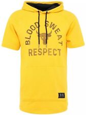 UNDER ARMOUR UA X PROJECT ROCK RESPECT BLOOD SWEAT HOODIE SS YELLOW SOLD OUT!