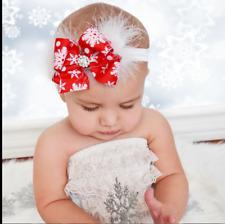 Fascia per capelli neonata Natalizia/Fascia per capelli bimba per Natale