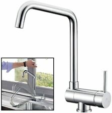 Modern Brushed Nickel Folding kitchen Sink Stainless  Steel Faucet Lead Free Tap