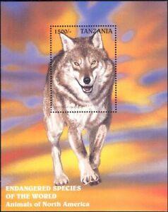 Tanzania 1997 Grey Wolf/Animals/Nature/Wildlife/Conservation 1v m/s (b4372a)