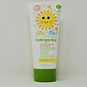 Babyganics Baby Sunscreen Lotion SPF 50+ 6oz UVA+UVB Exp. 05/2019 Sealed Tube