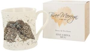 Bree Merryn Posh Pecks Owls Cute Mug Boxed Down At The Farm