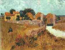 Metal Sign Van Gogh Vincent Farmhouse In Provence 1888 A4 12x8 Aluminium