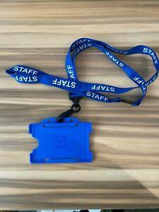 Lanyard ID Card Holder Volunteer Green Visitor blue & Staff in Healthcare Blue