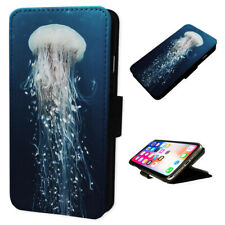 Jellyfish Marine Creature - Flip Phone Case Wallet Cover - Fits Iphone & Samsung