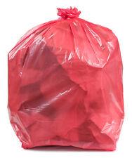 PlasticPlace 32-33 Gallon Trash Bags, Red, 100/Case - MPN: W33R15