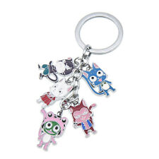 Anime Fairy Tail Character Pendant Key Chain Cute Alloy Keyring Cosplay Gift