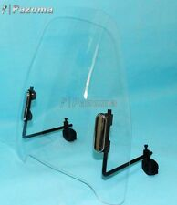 Universal Transparent Clear Motorcycle Windshield Wind Screen Air Deflector Kit