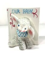"Sweet Pretty Boys Vintage Napco Baby's Room Planter Lamb &Baby Book ""Our Baby"""
