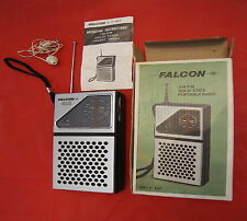 Radio portatile antenna Vintage FALCON F 107 F107 fm am solid portable receiver