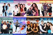 Will and Grace Complete Series Part 1 2 3 4 5 6 7 8 Collection 1-8 UK R2 DVD