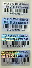 100 to 1000 Customized BARCODE Product Protection Security Hologram Labels