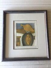 """J. Hernandez Etching Print, Signed & Numbered 1/100, Framed, 6 1/2"""" x 7 3/4"""""""