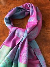 NEW 100% Cashmere MULTI COLOUR PASHMINA  scarf shawl  Nepal (Flawed)