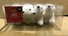 20 x WHITE POLAR BEAR HANGING CHRISTMAS TREE DECORATIONS JOBLOT SHOP ANIMAL XM88