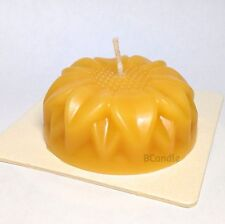 "Candle Flower 100% Pure Beeswax - 3"" x 3"" with Square Coaster"