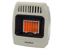 Kozy World 12,000 BTU Plaque Infrared Propane Gas Wall Heater