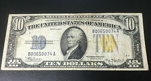 1934-A $10 Silver Certificate North Africa Emergency Issue WWII FR-2309 BOO NOTE
