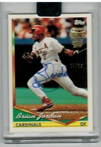 2018 TOPPS ARCHIVES SIGNATURE SERIES RETIRED BRIAN JORDAN AUTO CARDINALS 03/13