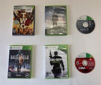 Xbox 360 Lot Of 6 Games New & Used Call Of Duty Battlefield 3 Halo Mafia 2 Army