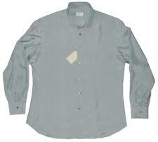 $1750 NEW BRIONI 100% SILK MENS SLIM FIT DRESS SHIRT XL