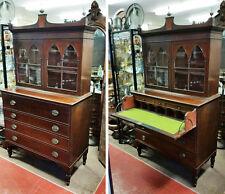 Estate Early Sheraton Secretary Butler'S Desk Mahogany - Massachusetts C-1815