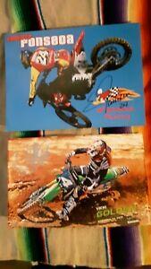 Vicki golden Ernesto Fonseca motocross Poster picture career card hand signed 🍻