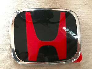 H-123BR JDM H Red Black Grille HONDA ACCORD CIVIC CRV FIT HRV Coupe BADGE EMBLEM