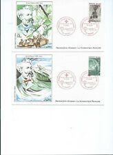 ENVELOPPES PREMIER JOUR (NANTES) 1982 CROIX ROUGE - JULES VERNE n°2247 et 2248