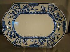 "Antique Ridgways Litchfield Blue Transfer Meat Dish Platter 11 1/2"" c.1888"