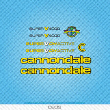 Cannondale Super V4000 Bicycle Decals - Transfers - Stickers - Yellow - Set 0803