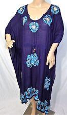 Just Love Femme Plus un Taille Libre Bleu Indigo Batik Haut Caftan Robe Tunique