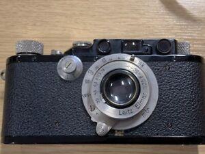 1934 Vintage Leica 111F, (146518) black with Elmar F50 lens, superb leather case