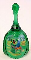 Fenton Glass The Arrival Spruce Green Bell Birth Of A Savior Series 1998 LE