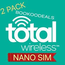 2 Pack Total Wireless 4G Nano Sim Card CDMA Cell Phone Service Cheap Cheap