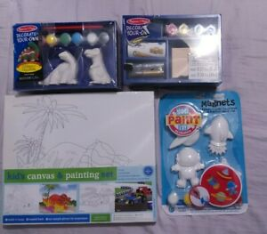 Melissa and doug DECORATE YOUR OWN DINOSAURS & TREASURE CHEST, KIDS CANVAS PAINT