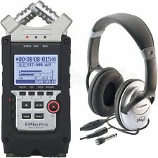 Zoom H4n Pro Palmtop Multitrack-Recorder Handheld Aufnahmegerät mit Kopfhörer