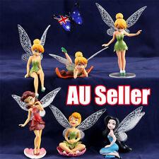 6x Tinkerbell Fairy Birthday Figure Cake Topper Figurine Garden Decor Toys  BO