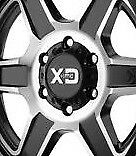 KMC XD832  Fusion Gloss Black 6x139.7 Center Cap fits 6x139. (6x5.5) Wheels NEW